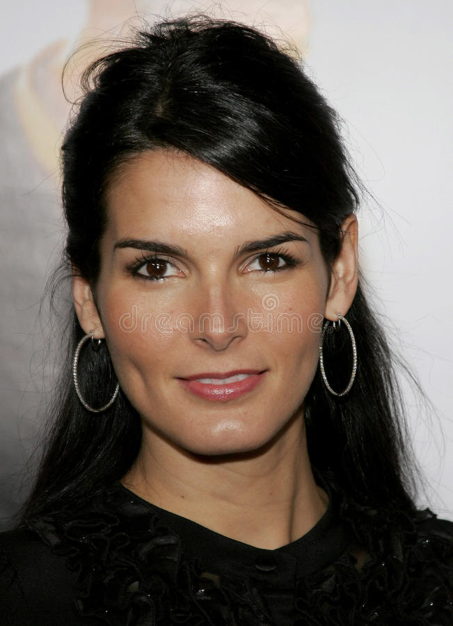 Angie Harmon. HOLLYWOOD, CALIFORNIA. Thursday December 7, 2006. Angie Harmon attends the Los Angeles Premiere of The Pursuit of Happyness held at the Mann stock photos