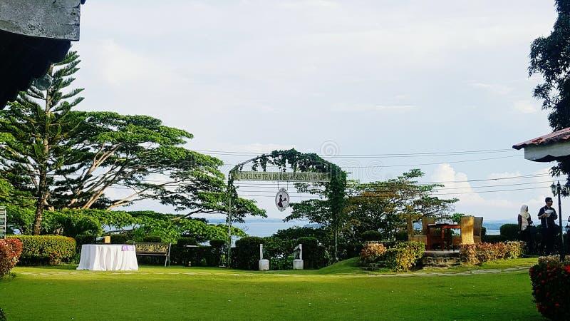 Angielska Herbacianego domu restauracja, Sandakan obraz royalty free