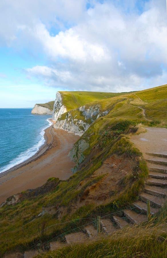 Angielska linia brzegowa blisko Durdle drzwi zdjęcie stock