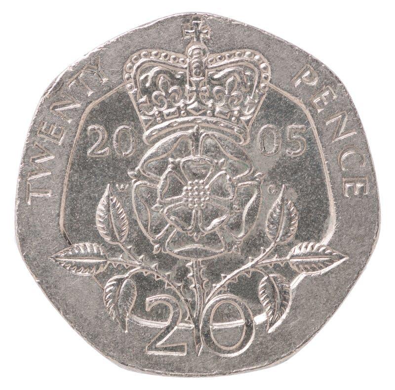 Angielska pens moneta obrazy royalty free