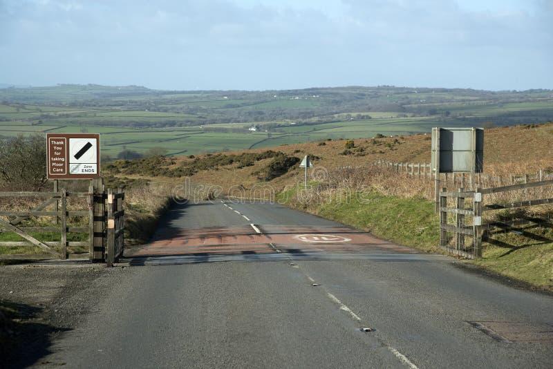 Angielska wieś przy wejściem Dartmoor park narodowy Anglia UK zdjęcia stock