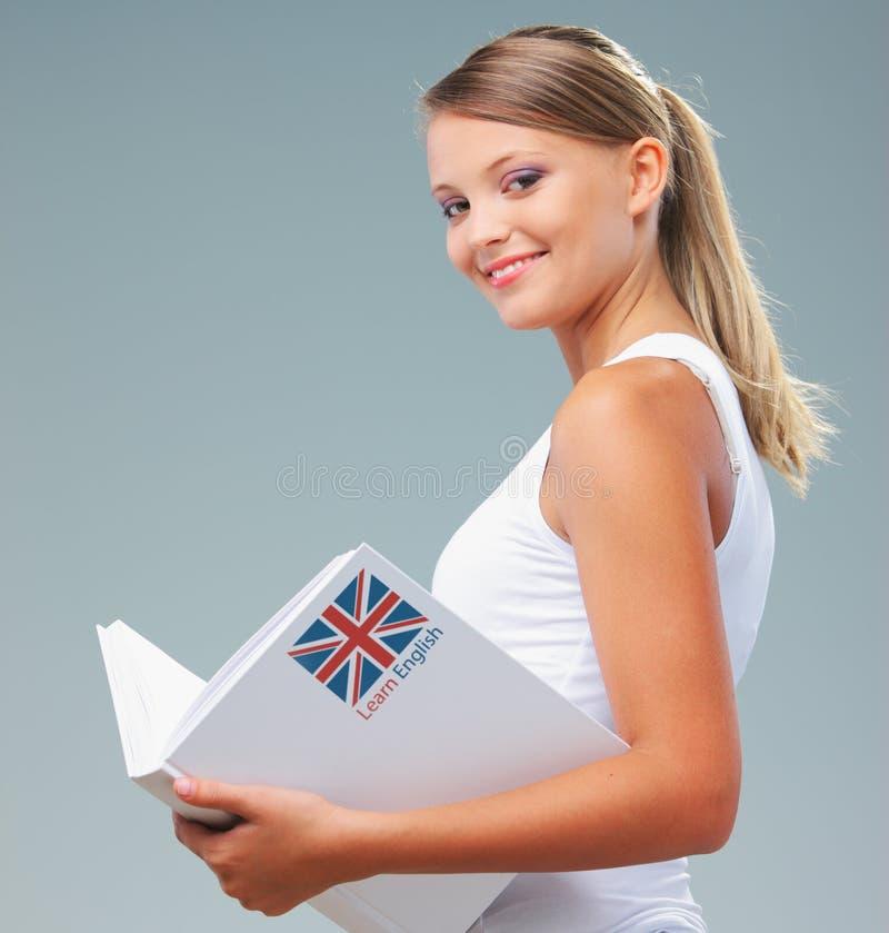Angielski żeński uczeń obraz stock