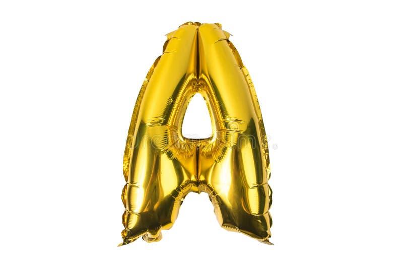 Angielski abecadło od żółtych Złotych balonów na bielu ilustracji