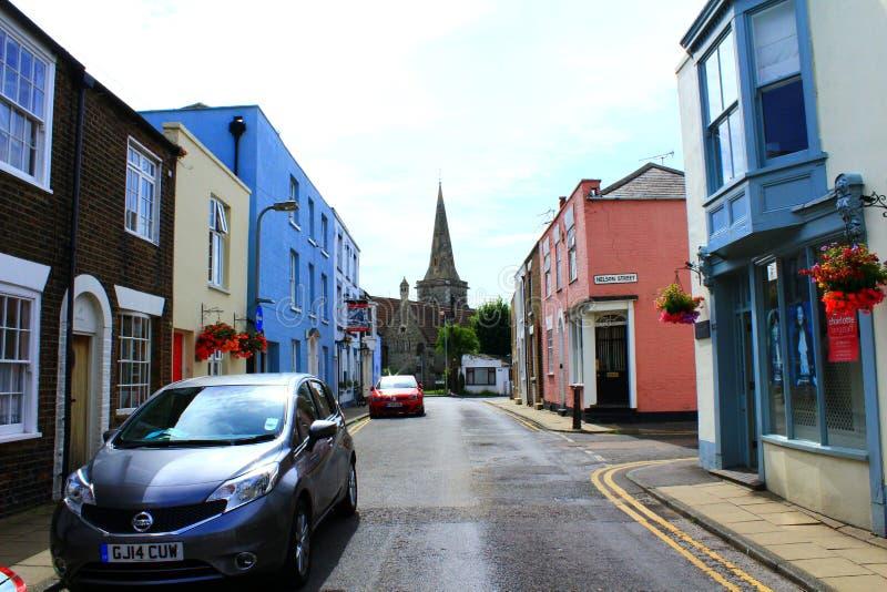 Angielski miasteczko ulicy widok obraz stock