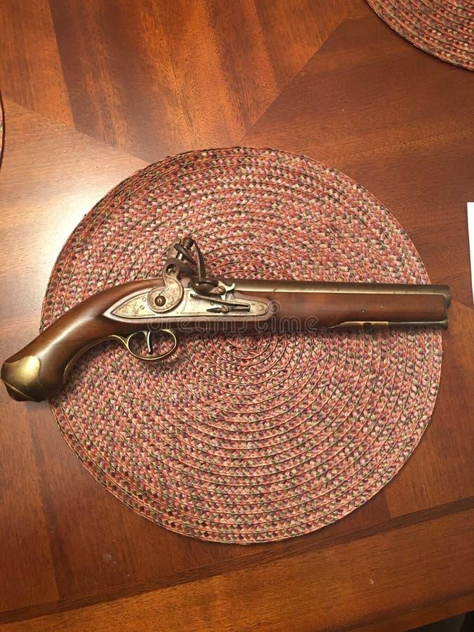 1776 Angielski piękny pistolet obrazy royalty free