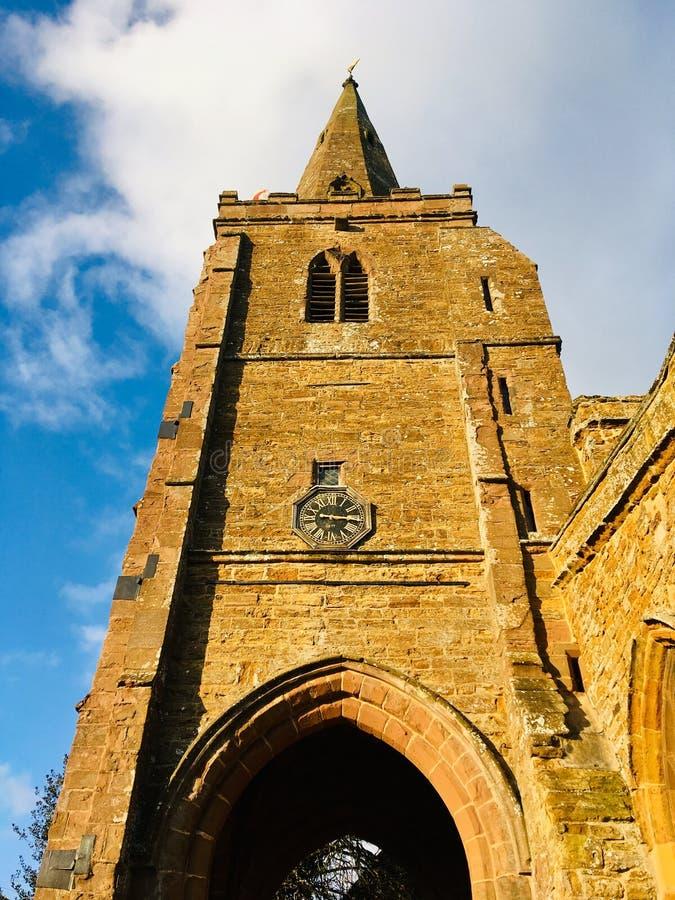 Angielski wioska kościół fotografia royalty free