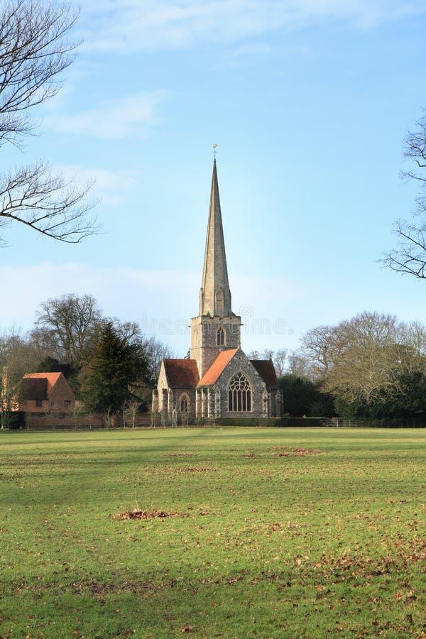angielskie wiejskie do kościoła fotografia royalty free