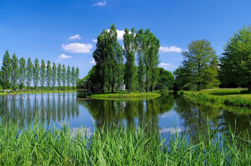 Angielskie ziemie Woerlitz Rousseau wyspa obrazy royalty free