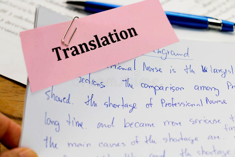 Angielszczyzn słowa na białym papierze obraz stock