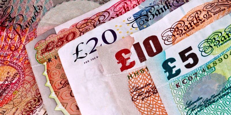 Angielszczyzny - Brytyjscy banknoty - Waluta fotografia royalty free
