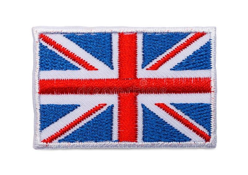 Angielszczyzny flaga łata obraz royalty free