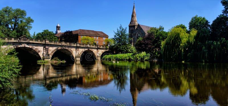 Angielszczyzny Przerzucają most Shrewsbury zdjęcie royalty free