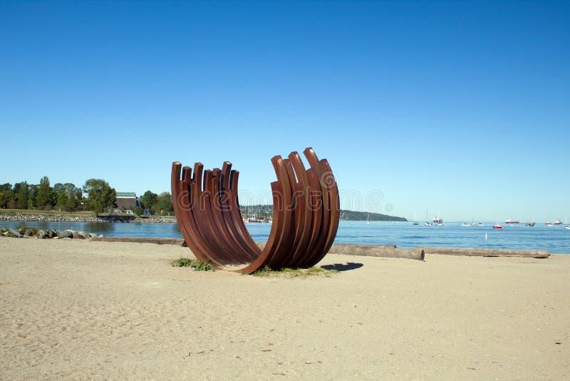 Angielszczyzny zatoka s?oneczny dzie? w Vancouver kolumbia brytyjska, Canada zdjęcia stock