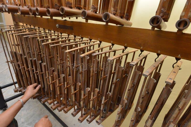 Angklung - Musikinstrumente lizenzfreie stockfotos