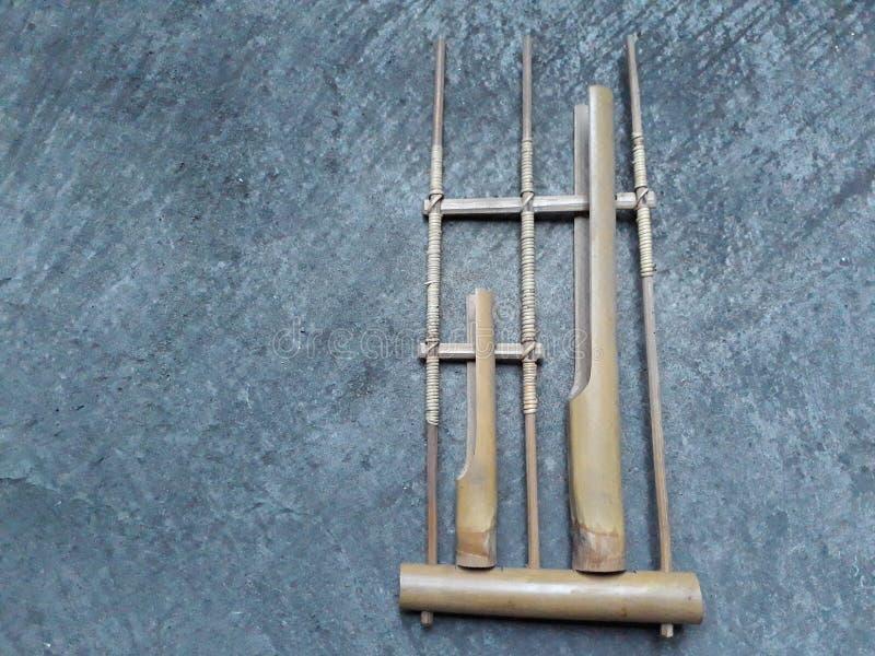 Angklungs-Bambus lizenzfreies stockbild