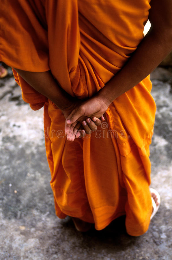 angkor柬埔寨修士破坏wat 免版税库存照片