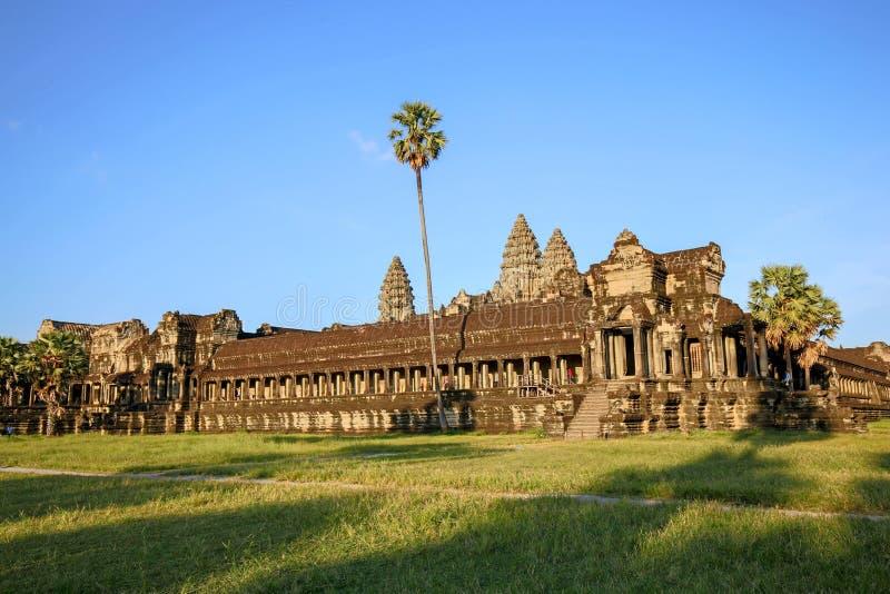 angkor柬埔寨收割siem wat 免版税库存图片