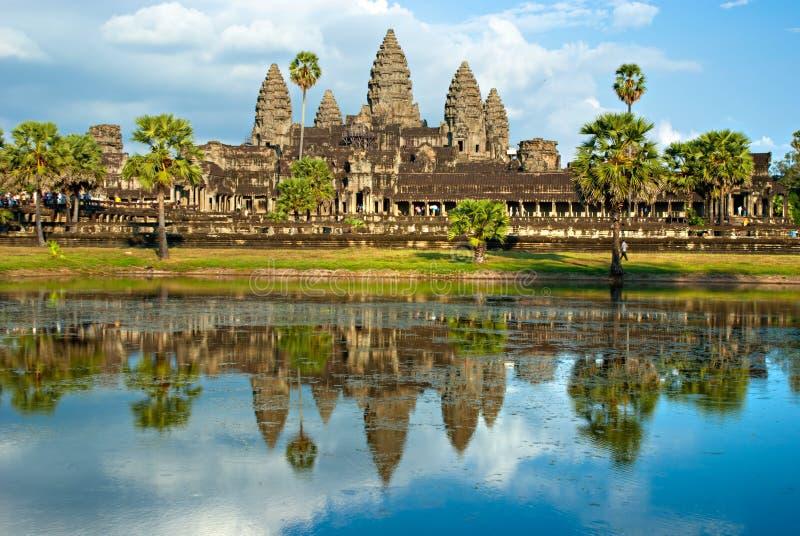 angkor柬埔寨收割siem wat 免版税图库摄影
