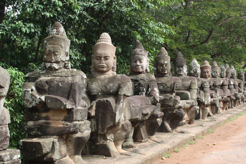 angkor柬埔寨thom 免版税库存图片
