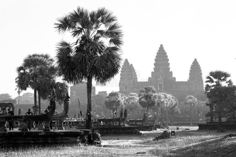 Angkor świątynia Wat, Siem Przeprowadzać żniwa, Kambodża obrazy stock