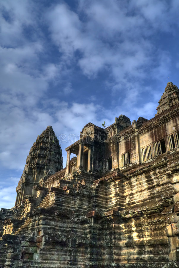Angkor. Is a name conventionally applied to the region of Cambodia serving as the seat of the Khmer empire that flourished from approximately the ninth century royalty free stock images