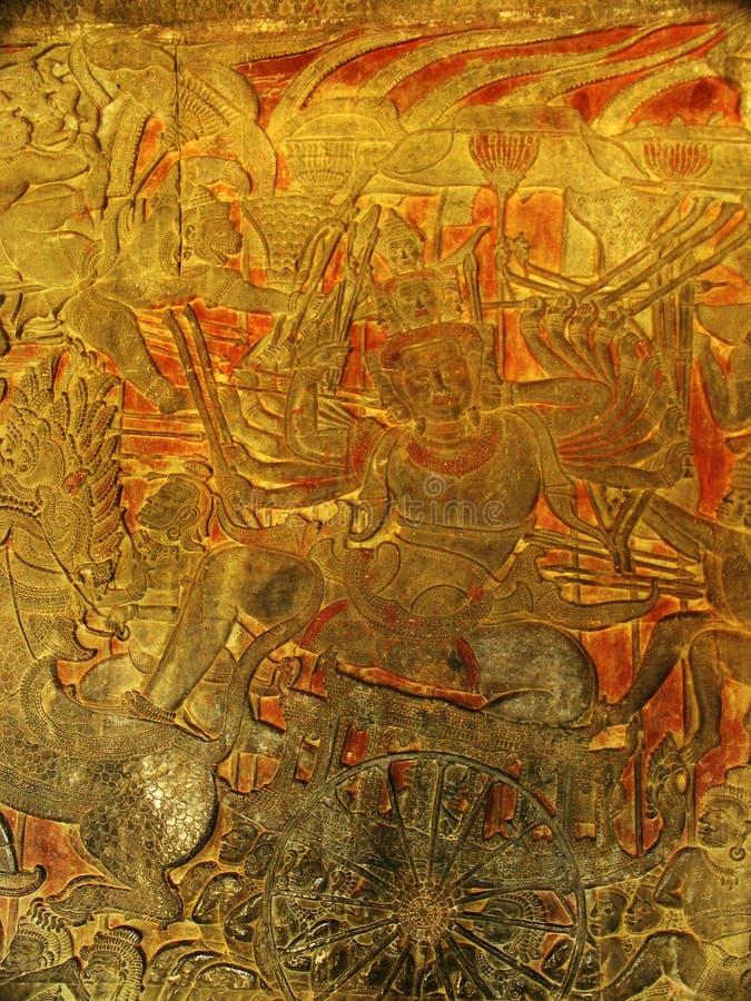 Angkor - Angkor Wat Tempel lizenzfreies stockbild
