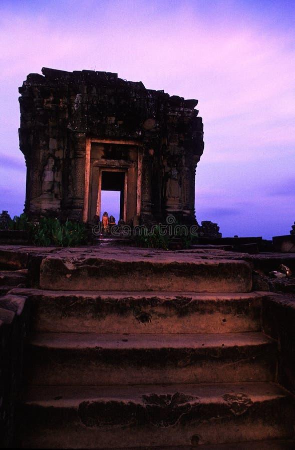 angkor bakheng krzywka phnom świątyni wat fotografia royalty free