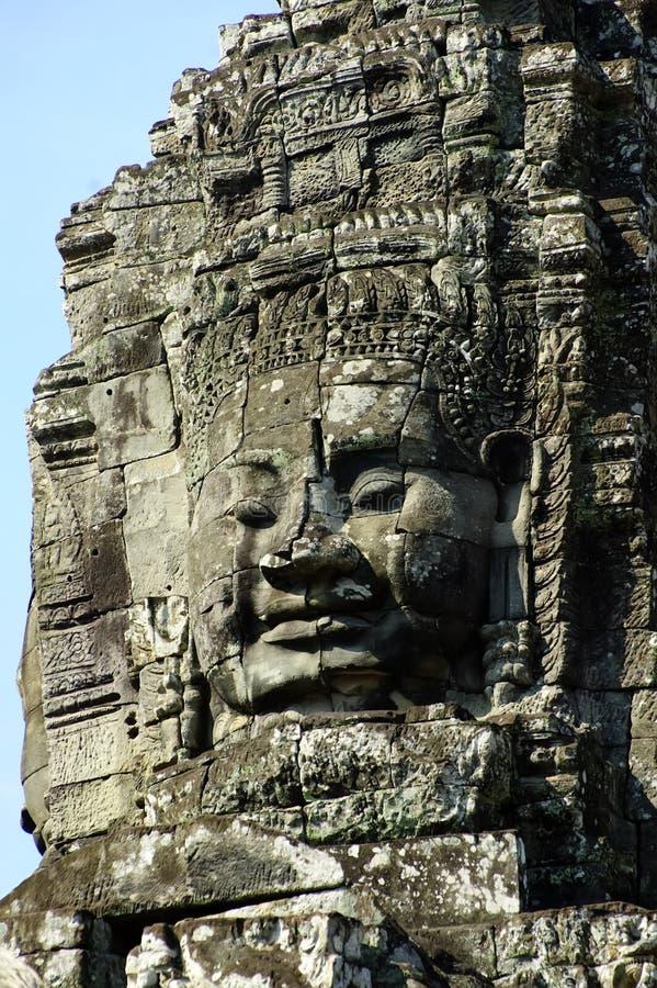 angkor bayon柬埔寨收割siem寺庙wat 免版税库存图片