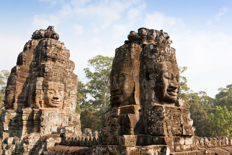 angkor bayon柬埔寨表面微笑的寺庙 库存图片