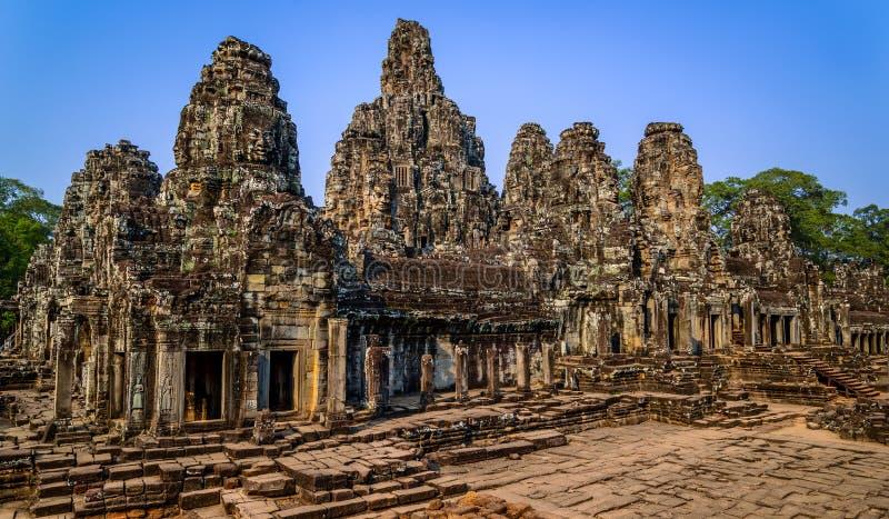 Angkor Bayon tempel i Angkor Wat område, Cambodja royaltyfri bild