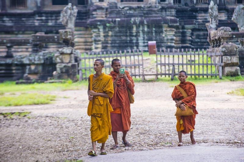 angkor Cambodia świątyni wat obraz stock