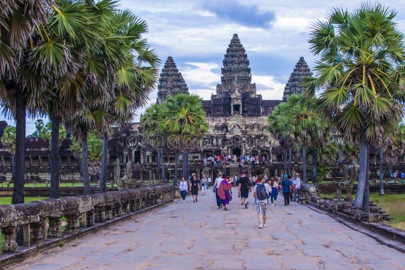 angkor Cambodia świątyni wat fotografia royalty free