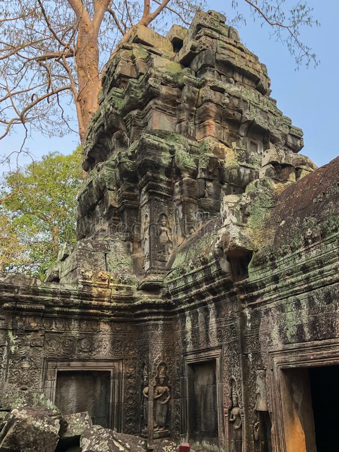 Angkor Cambodia Temples. Angkor Cambodia Ancient wall Temples background and exotic travel imagery stock images