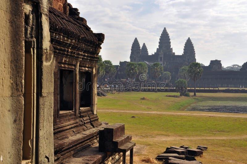 angkor cambodia En khmerAngkor Wat tempel royaltyfria bilder