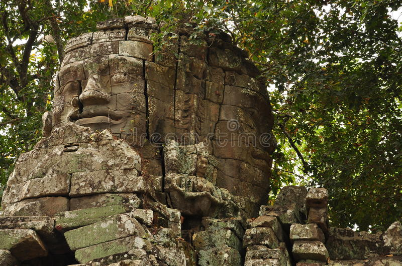 Angkor, Cambodia. Khmer Banteay Kdei temple ruins. The Unesco world heritage Khmer archaeological site of Angkor, Siem Reap, Cambodia. Banteay Kdei Buddhist royalty free stock photography