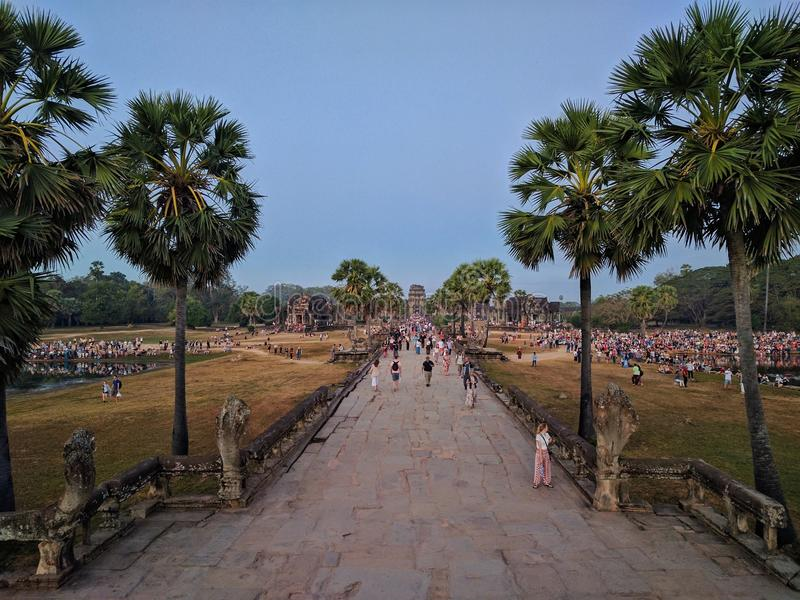 angkor Cambodia ruiny zdjęcie royalty free
