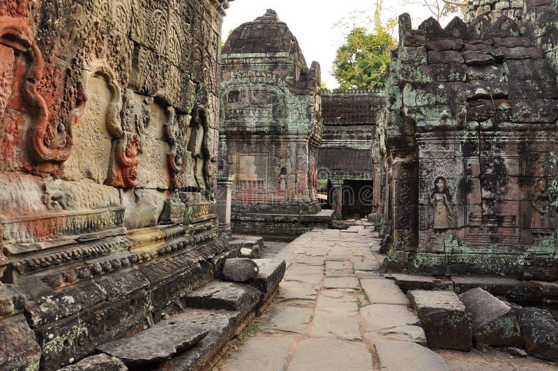 Angkor, Cambodia Templo de Preah Khan imagem de stock