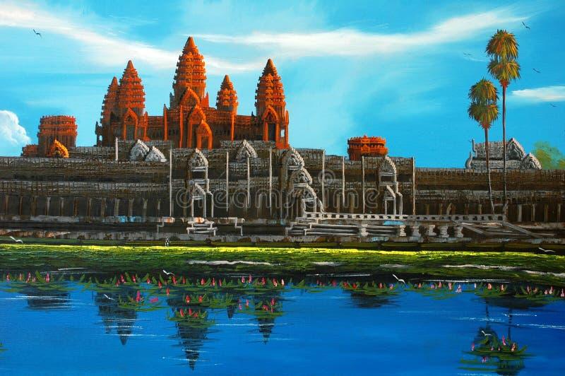 angkor Cambodia wat obrazy royalty free