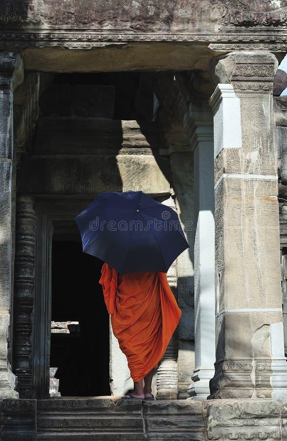 angkor Cambodia wat mnicha fotografia stock