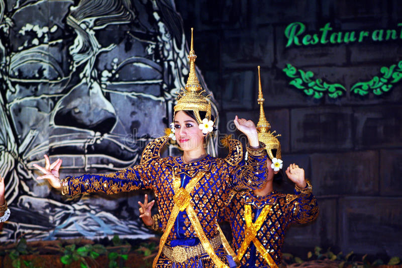 Angkor dancer stock photo