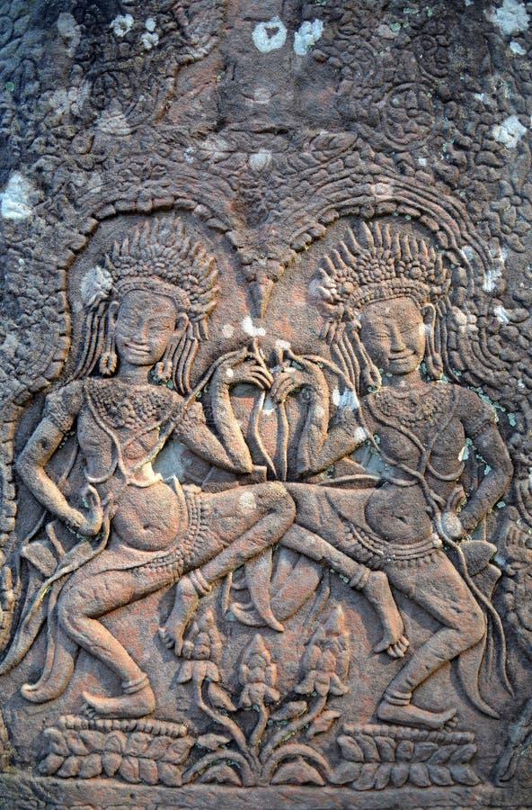 Angkor Dancing Apsara royalty free stock images