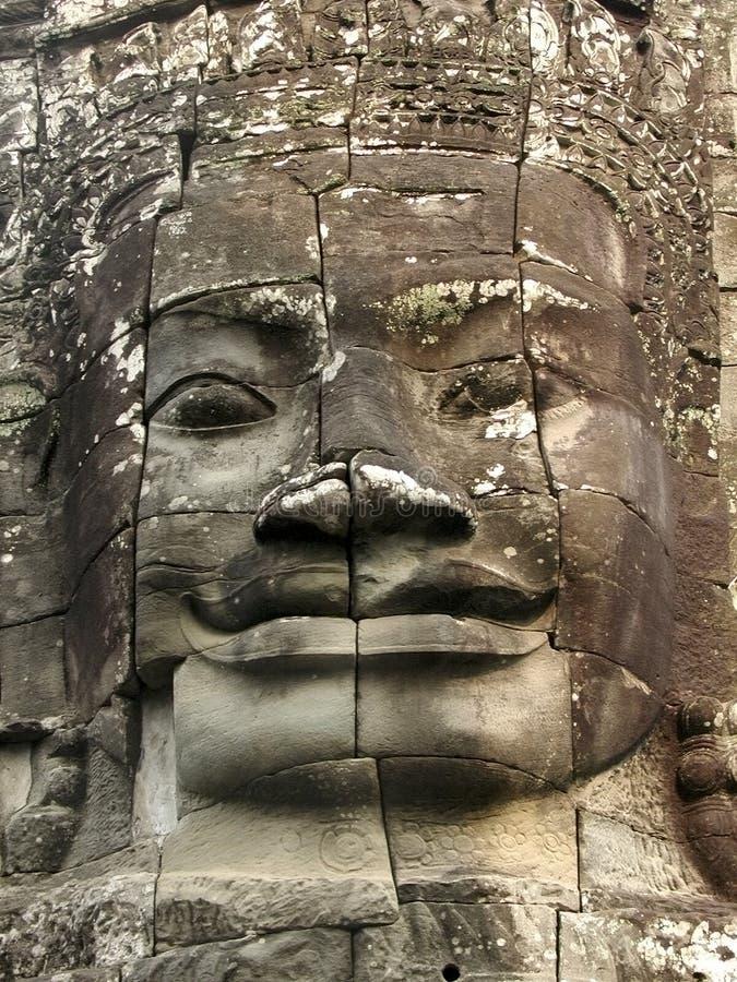 Angkor enfrenta foto de stock