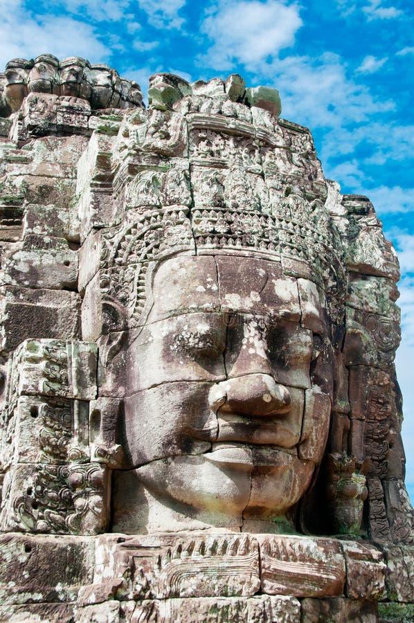 Angkor Faces royalty free stock photography