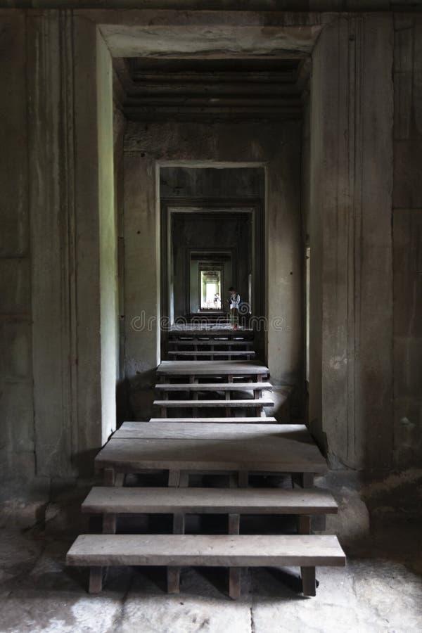 Angkor intérieur Wat photographie stock