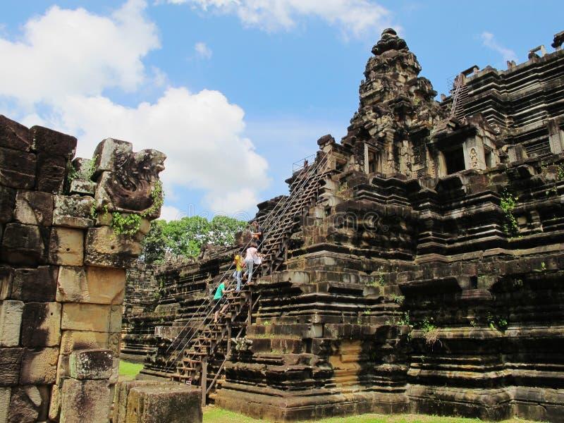 Angkor komplex, Cambodja arkivfoto