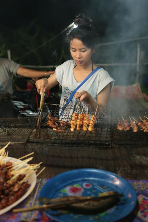 Night market in the street of Siem reap. The angkor night market in Siem Reap is one of the oldest night market in Cambodia. You can find many things as food and royalty free stock photos