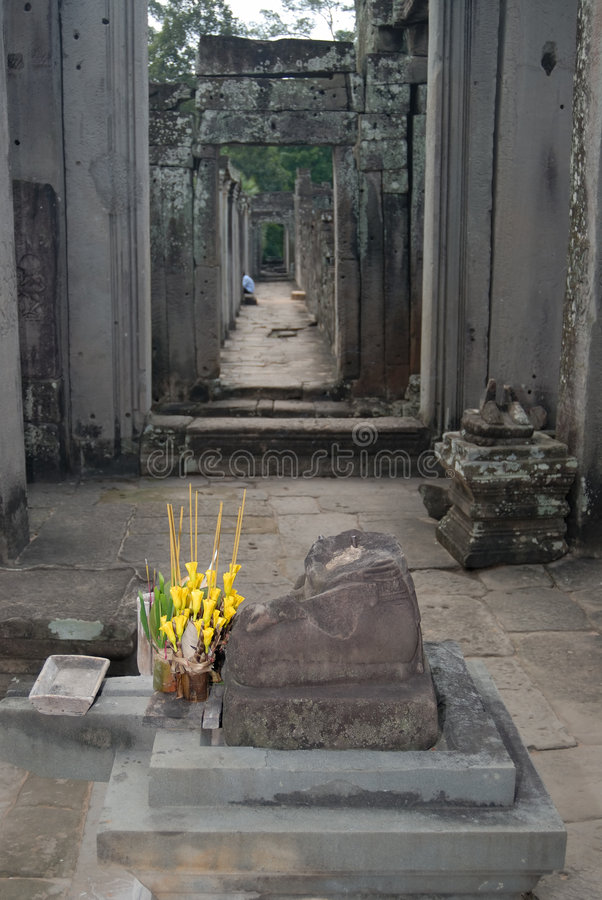 Angkor Offerings stock photos
