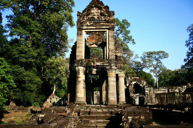 angkor prohm ta寺庙 库存照片