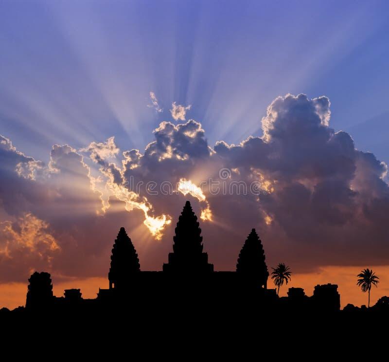 Angkor Sonnenuntergang stockfotografie