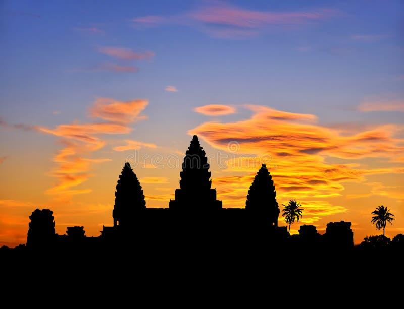 Angkor Sonnenuntergang stockfotos